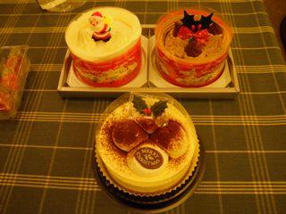 クリスマスケーキたち