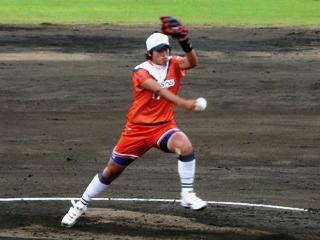 芸術作品みたいにラインの美しい上野投手