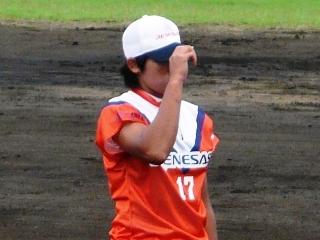 顔が見えなくてもかっこいい上野投手