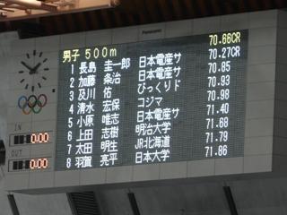 男子500m結果